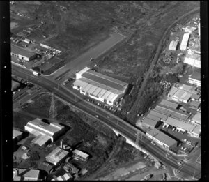 Industrial buildings, including business premises of A&T Burt Ltd Plumbing and Electrical Supplies, Penrose, Auckland