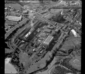 Unidentified factories in industrial area, Manukau City, Auckland