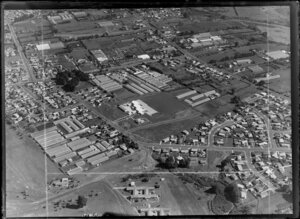 Mangere, Manukau City, Auckland, including commercial greenhouses and residential housing