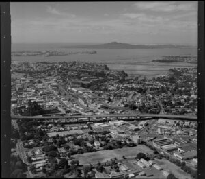 Newmarket, Auckland, including Southern Motorway, Hobson Bay and Waitemata Harbour