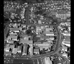 Unidentified industrial, commercial, and residental buildings, Manukau City, Auckland