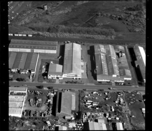 Factories, including Gerrard building, in Penrose/ Otahuhu industrial area, Manukau City, Auckland