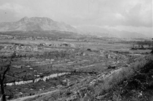 A view of the area from below Hangmans Hill, Cassino