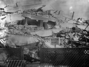 View of the Napier nurses' home which was destroyed in the Hawke's Bay earthquake
