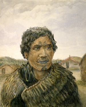 Robley, Horatio Gordon 1840-1930 :Woman of the Ngaiterangi tribe, Bay of Plenty. 1864.