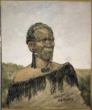 Robley, Horatio Gordon, 1840-1930 :Wanganui Tupe. [Rangitupu Taketake. ca 1900]