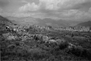 View of central Cassino, Italy