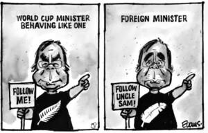 Evans, Malcolm Paul, 1945-:World Cup minister behaving like one. 22 September 2011