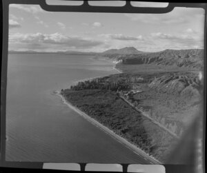 View of Hatepe and Lake Taupo, Taupo, Waikato region