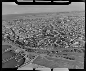 Timaru, South Canterbury, showing town and part of harbour