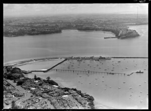 Bridge site at St Mary's Bay, Auckland