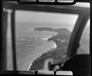 TEAL (Tasman Empire Airways Limited) flight over Tahiti