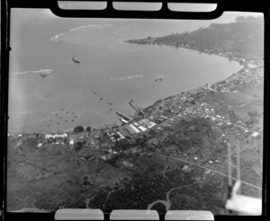 Apia, Upolu, Samoa, showing the village and harbour