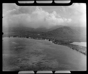Apia, Upolu, Samoa, showing the village and bay