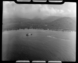 Apia, Upolu, Samoa, showing ship and harbour