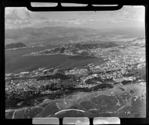 Wellington City, showing harbour, shipping and railway yards