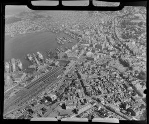 Wharves, Wellington Railway Station and city of Wellington