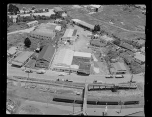 Train station, shops, industrial area, Penrose, Auckland