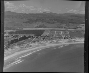 Whangamata, Thames-Coromandel District, showing township and beach