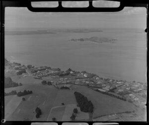 Glendowie, Churchill Park, looking out towards Motukorea Island, Auckland