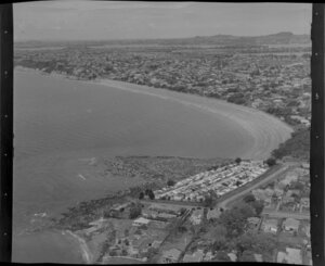 Takapuna, Auckland, showing coastline and residential area