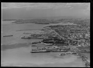 Auckland City and wharves, including shipping