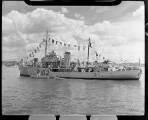 Auckland Anniversary Regatta, Auckland Harbour, showing ship
