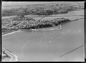 Yachting Regatta, Okahu Bay, Auckland, showing yachts and boats