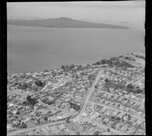 Takapuna, Auckland, showing Rangitoto Island