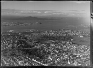 Auckland City, showing Devonport and Rangitoto Island in the distance