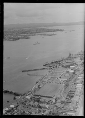 Naval Base, Devonport, looking out towards the waterfront and Saint Marys Bay, Auckland