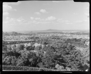 One Tree Hill, Auckland, looking towards Rangitoto Island from Summit