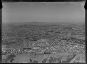 Mount Roskill, Auckland, with Rangitoto Island in the distance