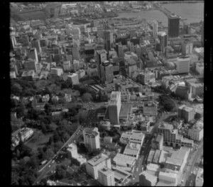 Auckland City Centre, Auckland, with Hotel Intercontinental at centre
