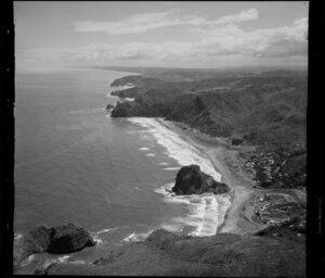 Piha, with Lion Rock, Auckland west coast