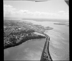Auckland waterfront and wharves