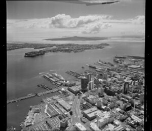 Central Auckland City, featuring Waitemata Harbour, Devonport, and port area