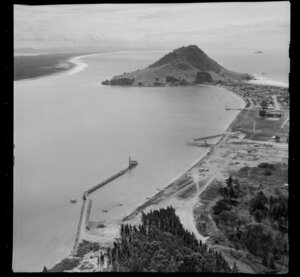 Tauranga Port, including Mount Maunganui in the background