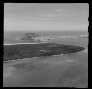 Tauranga Harbour entrance, including Mount Maunganui in the background