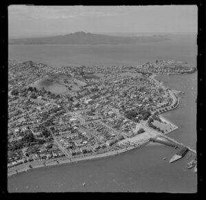 Torpedo Bay, Auckland, including Rangitoto Island in the background