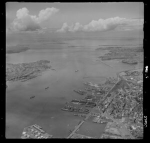 Auckland waterfront and Harbour entrance