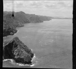 Manukau Heads, with Huia Point (centre right), Waitakere, Auckland