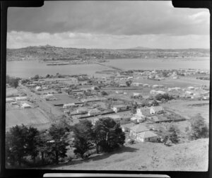 Mangere Mountain, Auckland, including Onehunga and Manukau Harbour
