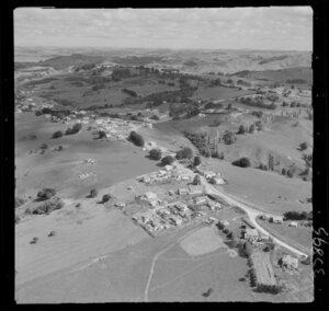 Maungaturoto, Northland, showing houses and countryside