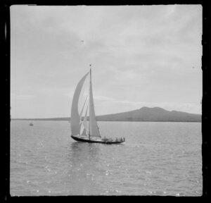 Unidentified yacht, yachting, Auckland Harbour Regatta