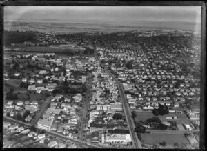 View looking towards Onehunga from Manukau Road, Newmarket, Auckland