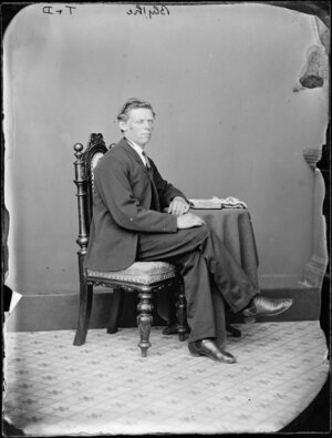 Seated portrait of a man in a suit, probably Mr Blythe - Photograph taken by Thompson & Daley