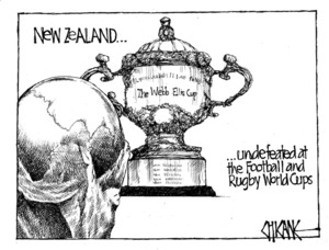 Winter, Mark 1958- : New Zealand...undefeated at the Football and Rugby World Cups... 25 October 2011
