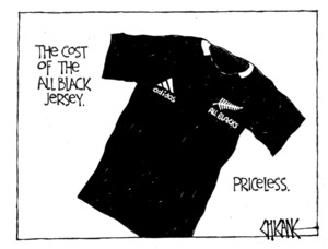 Winter, Mark 1958- :The cost of the All Black jersey. 23 October 2011