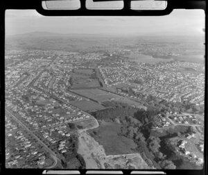 Willoughby, Hinemoa, Boyes, and Seddon Parks, Hamilton, Waikato Region, including Lake Hamilton (Lake Rotoroa) and water tower